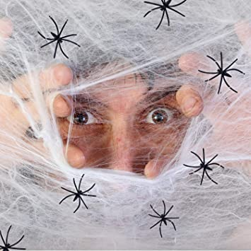 Joyjoz Telaraña Halloween, tela de araña 1000 pies cuadrados con ...