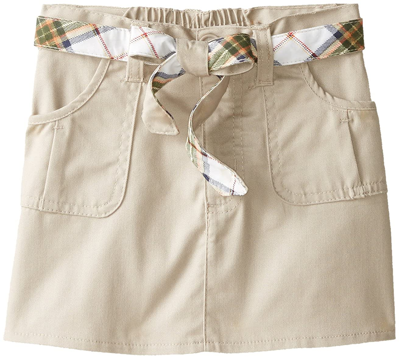 Eddie Bauer School Uniform Girls Scooter, Belted Khaki, 5 CZ84
