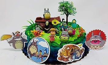 Surprising My Neighbor Totoro Birthday Cake Topper Amazon Co Uk Toys Games Funny Birthday Cards Online Aeocydamsfinfo