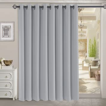 Amazon.com: RHF Funtion Curtain-Wide Thermal Blackout Patio door ...