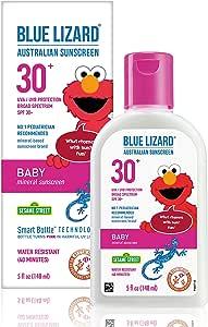 Blue Lizard Australian Sunscreen, SPF 30+, Baby Formula – 5 oz