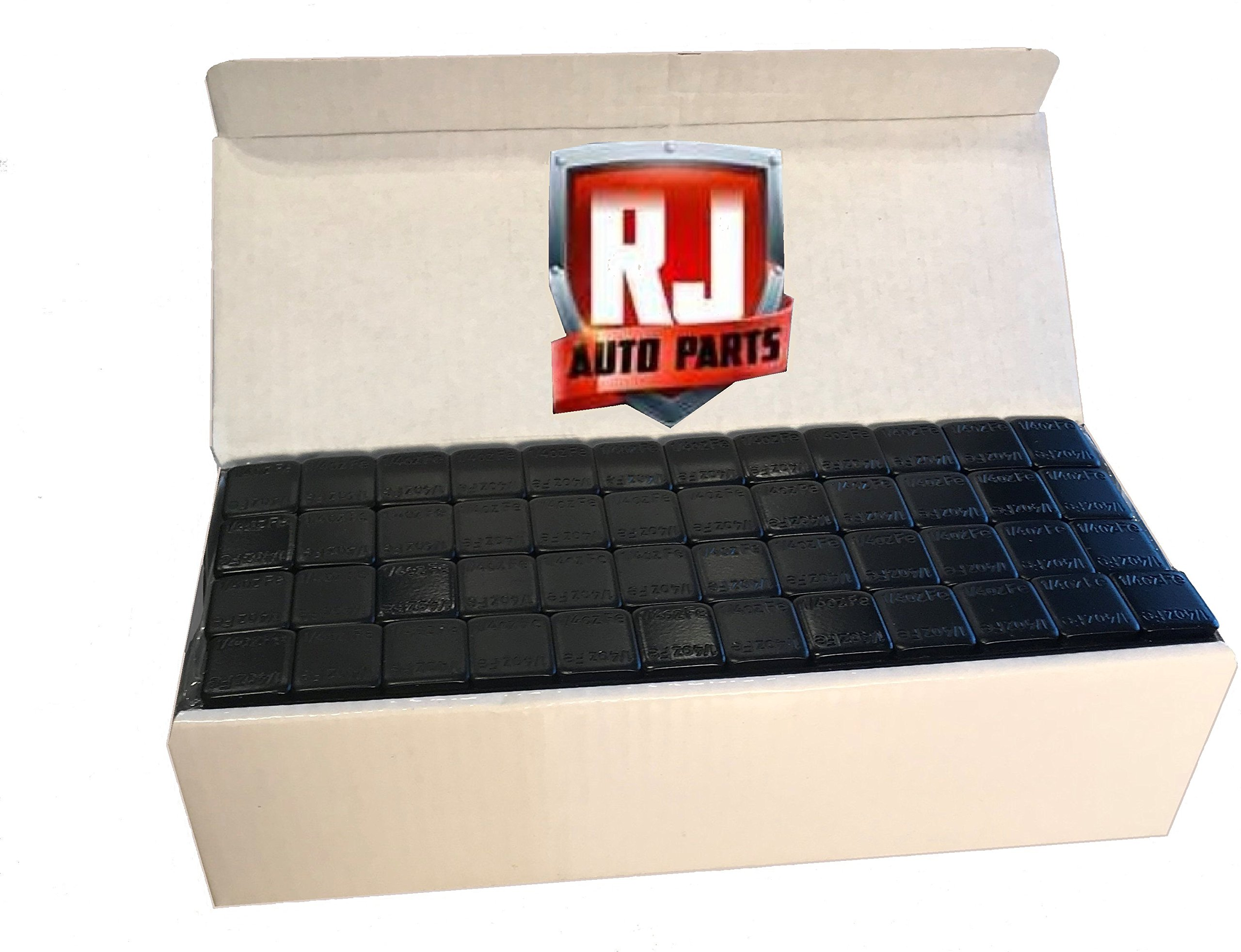 6 Boxes Wheel Weights, Black .25 oz. Stick-on Adhesive Tape, Lead Free, (54 lbs) 3456 Pieces by RJ Auto Parts