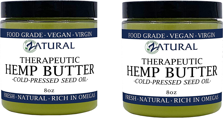 Naked Supplements MANTEQUILLA DE CÁÑAMO | 100% pura | orgánicos | materia prima | hechos a mano | vegano (2 8oz)
