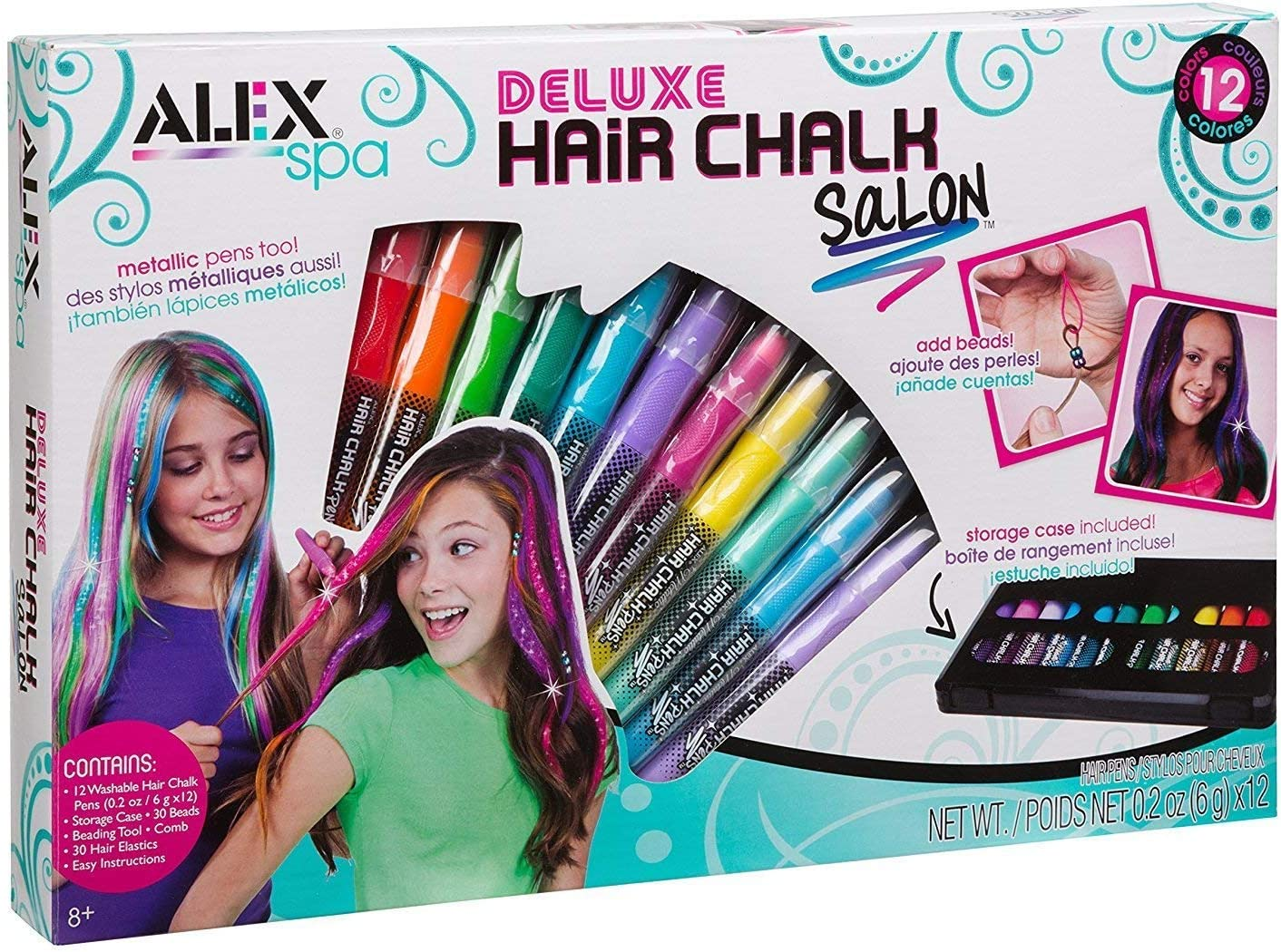 Hair Spa Chalk Pens Products Washable  Beading Art Salon Tool Kit for Teen Girls