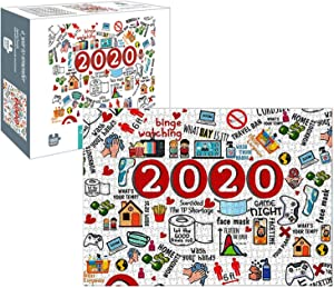Puzzle 1000 Piece,2021Paper Puzzles with Friend Family for Children & Adults Puzzle Game Artwork for Adults Teens Home Game Educational Toys Happy New Year by Sikypaota (2020-2)