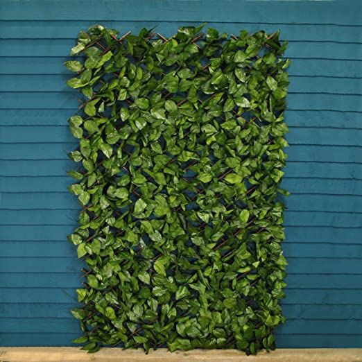 Celosía con hojas artificiales de abedul, tamaño 180 x 90 cm ...