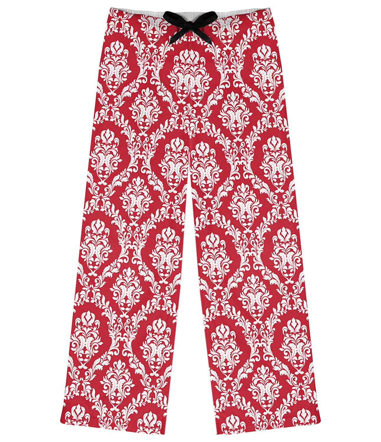 RNK Shops Damask Womens Pajama Pants Personalized red XL