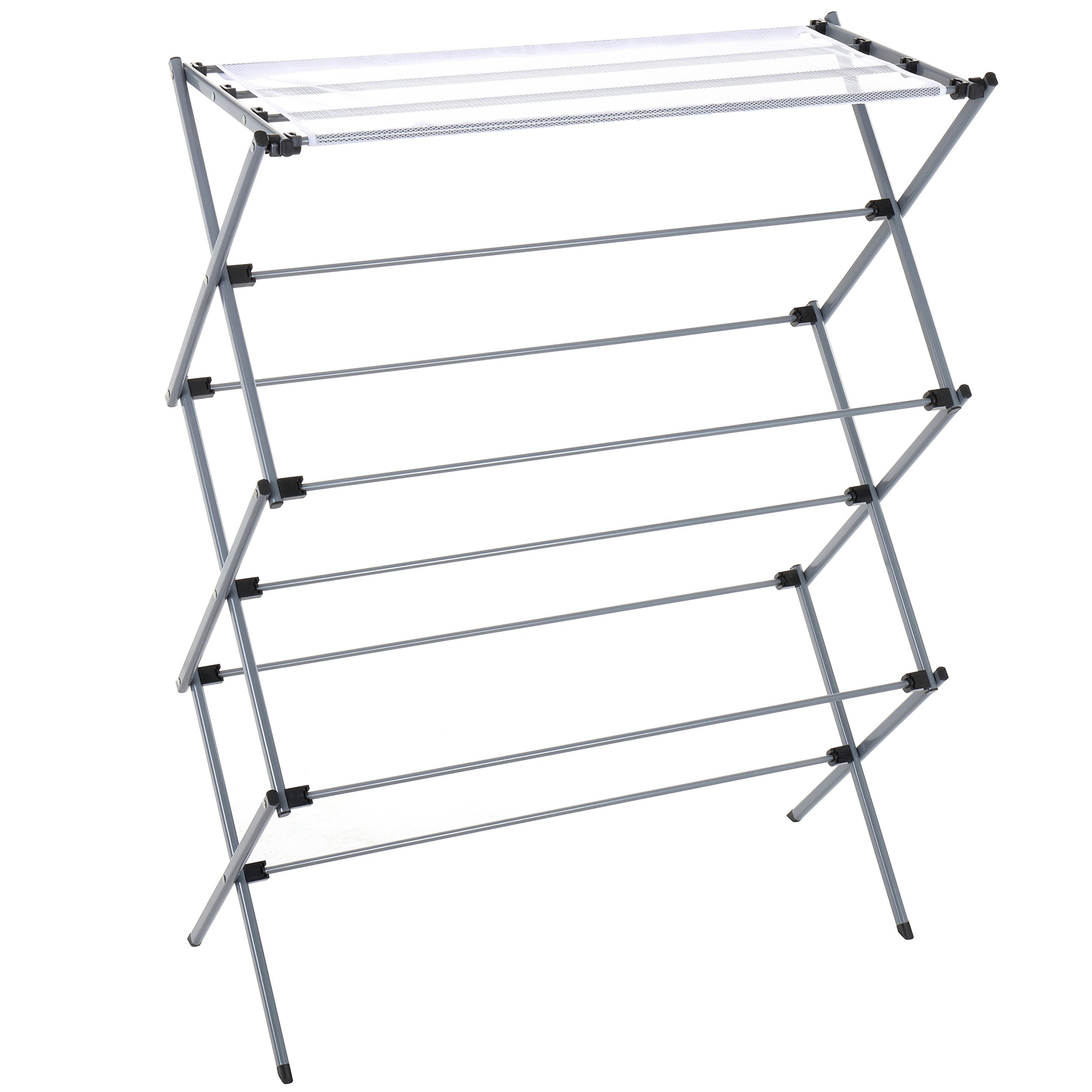 Finnhomy Oversize Folding Clothes Drying Rack Clothes Dryer for Laundry and Home Rust-Resistant, 45.5 Inch