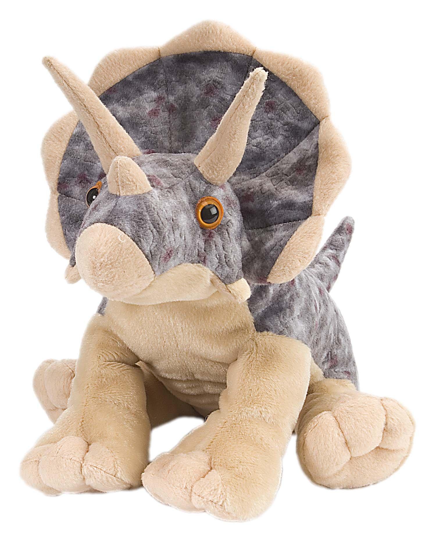 Wild Republic Triceratops Plush, Dinosaur Stuffed Animal, Plush Toy, Gifts For Kids, Cuddlekins 12''