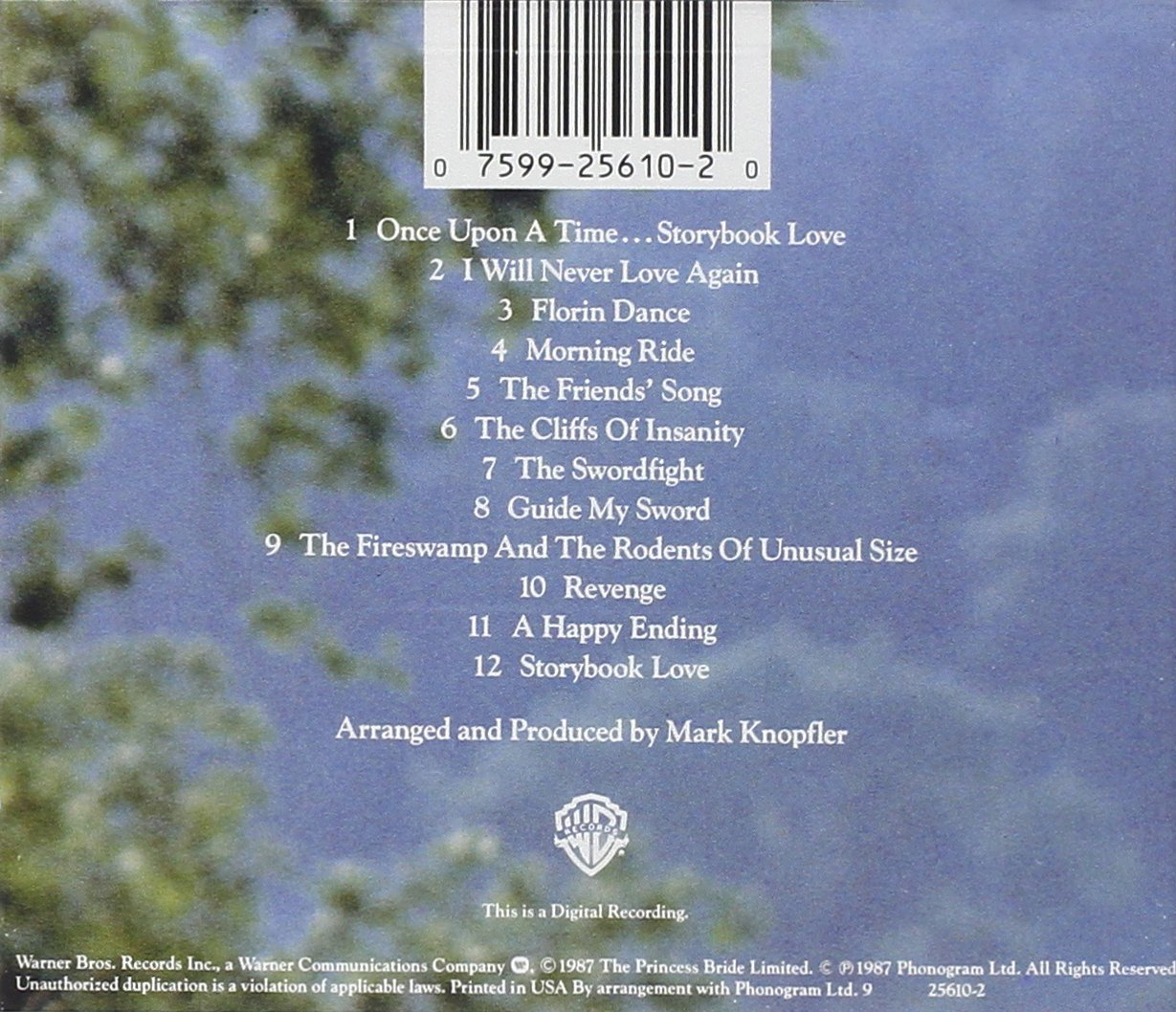 Image result for princess bride soundtrack