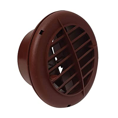 "Valterra A10-3352VP Rotating/Dampered Heating and A/C Register - 4"" ID x 5-3/8"" OD, Brown: Automotive"