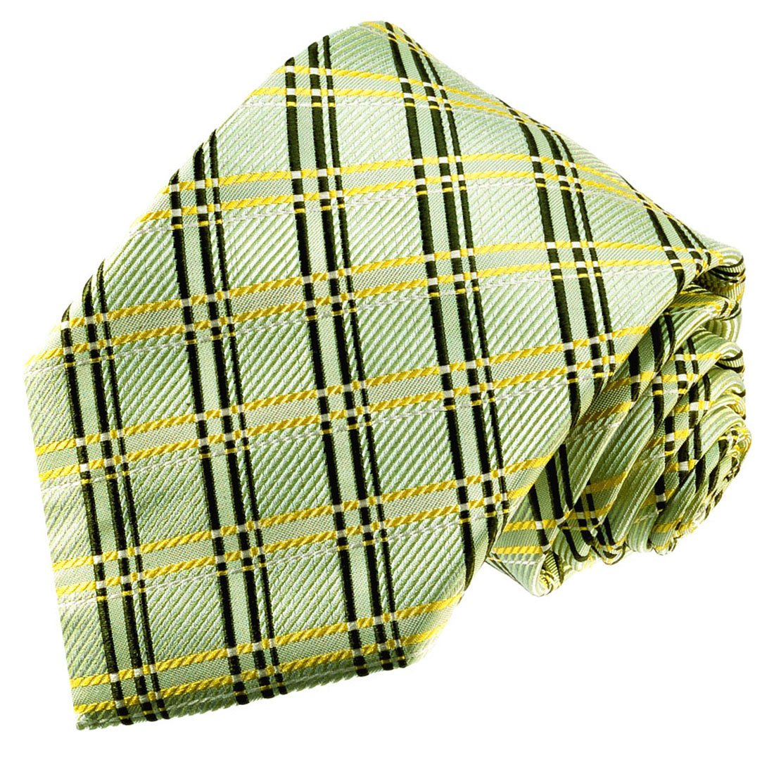 LORENZO CANA - Marcas corbata de seda 100% - Binder verde oro ...