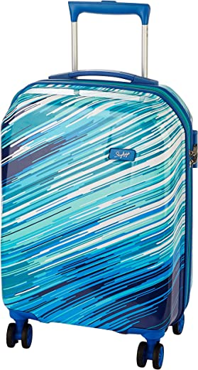 Skybags Polycarbonate 55 cms Blue Hardsided Cabin Luggage (Shift)
