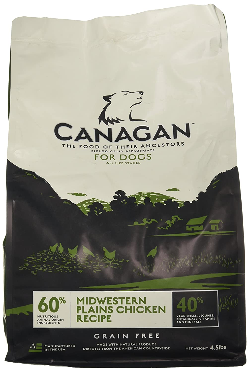 CANAGAN Grain Free Midwestern Plains Chicken Recipe for Dogs, 4.5 lb. Bag good