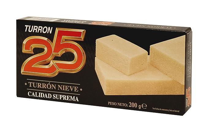 Turron25 - Turron Nieve - Turron de Mazapan -Calidad Suprema 200gr Producto Español