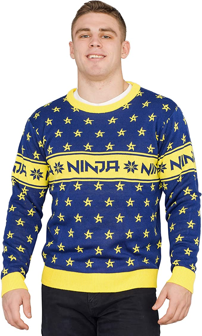 Amazon.com: Ninja Video Game Streamer Shuriken Sweater: Clothing