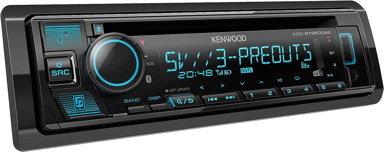 Kenwood Kdc Bt950dab Cd Autoradio Mit Dab Bluetooth Freisprecheinrichtung Usb Aux In Hochleistungstuner Spotify Control Soundprozessor 4x50 W Var Beleuchtung Dab Antenne Navigation