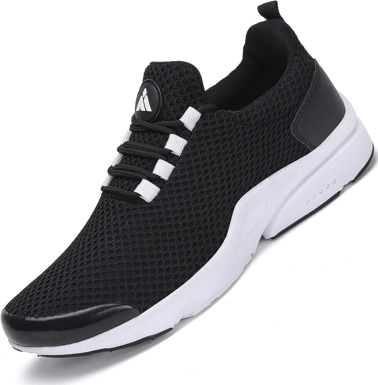 Zapatillas Running Hombre Zapatos Deportivos Fitness Trekking Casual Transpirables Zapatos St.1 Negro 45 EU: Amazon.es: Zapatos y complementos