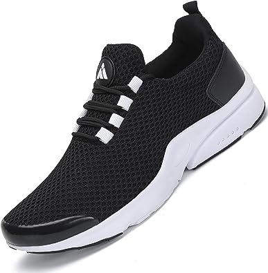 Zapatillas Running Hombre Zapatos Deportivos Fitness Trekking Casual Transpirables Zapatos St.1 Negro 46 EU: Amazon.es: Zapatos y complementos