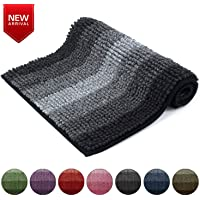 HOKIPO® Anti Slip Machine Washable Door Mats for Home and Bathroom - Mats Made of Microfiber, Super Absorbent, Leaves Feet Warm and Dry, 40 X 60 cm