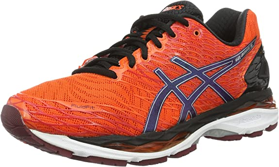 Asics Gel-Nimbus 18, Zapatillas de Running Para Hombre, Naranja (Flame Orange/Black/Silver), 45 EU: MainApps: Amazon.es: Zapatos y complementos