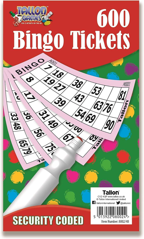 600 Cartones de Bingo Papelería Multi Juguetes Juegos Infantil Adultos Divertido Libros Páginas Jumbo: Amazon.es: Hogar