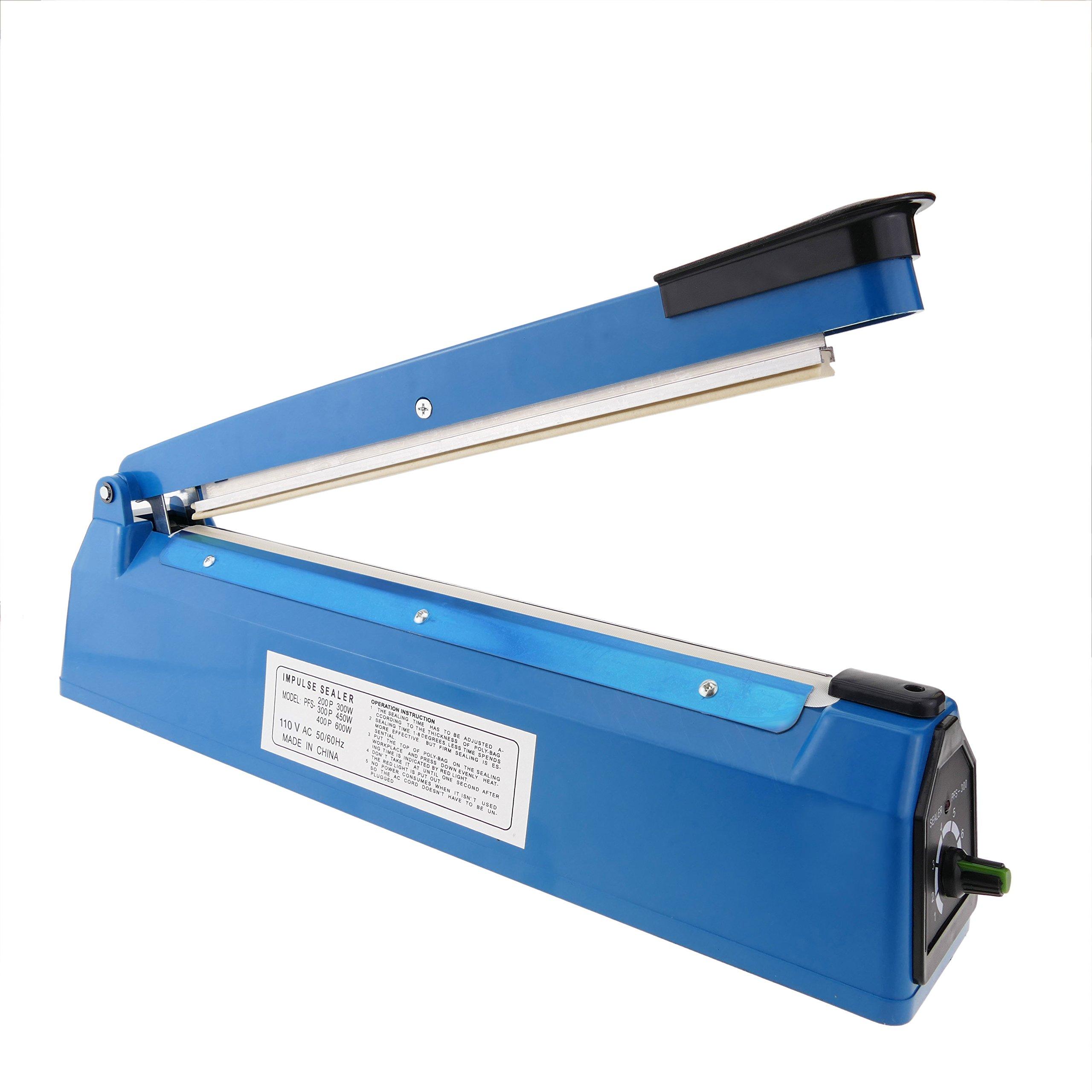Impulse sealer 8'' plastic bag heat seal machine 20 cm