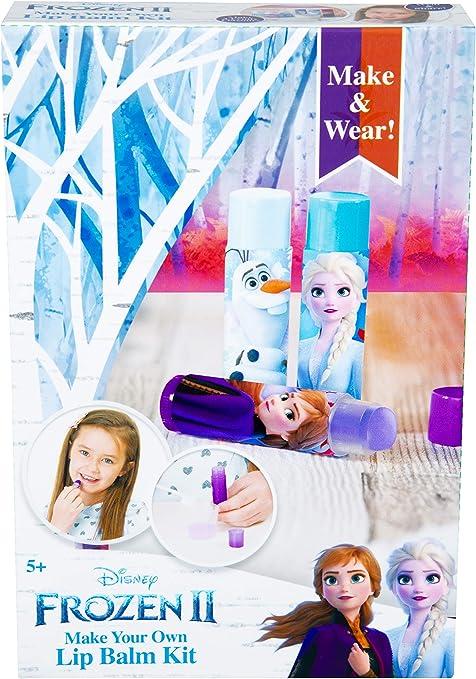 Disney Frozen 2 Set de Maquillaje CREA Tus Pintalabios con Princesas Anna y Elsa, Incluye Barras Labiales de Sabores, Kit Pintalabios Niña Manualidades, Regalos Frozen para Niñas: Amazon.es: Juguetes y juegos