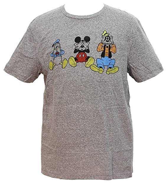 f6b8d5e69 Hybrid Disney Men's Mickey Mouse And Pals See No Evil Graphic T-Shirt (Small