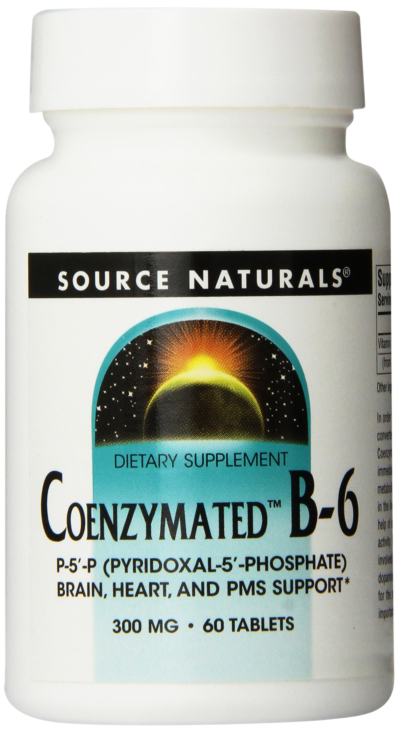 Source Naturals Coenzymated B-6 300mg, Promotes a Healthy Nervous System,60 Tablets by Source Naturals