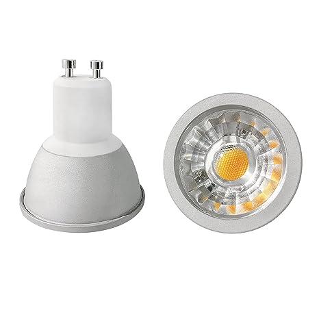 Bombilla LED COB 6 Watt, GU10 - 5500 K - luz blanca fría, 540