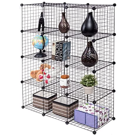Amazon.com: Tangkula Wire Cubes Metal Wire Free Standing Modular DIY ...
