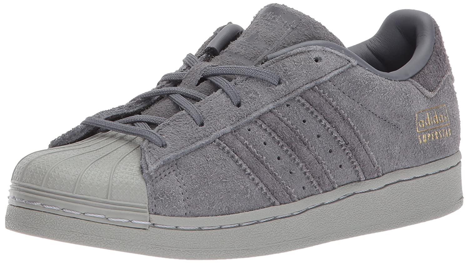 adidas Originals Superstar, Chaussures Unisexe Enfants - Gris - Gris/Noir/Or (Grey Five/Utility Black/Metallic Gold), 31.5 M EU Niño Pequeño EU