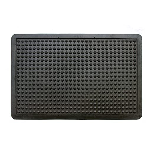 Onlymat Anti Fatigue Bubble Surface Rubber Mats, 45 x 75 cm, Black Doormats at amazon