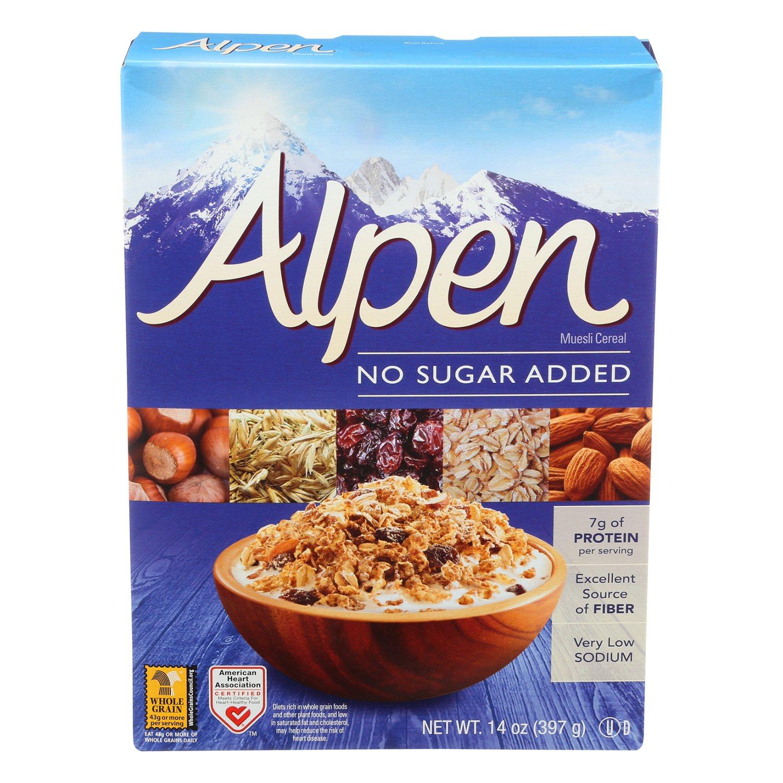 Amazon.com : Alpen Muesli Cereal, No Sugar Added, 14 Ounce