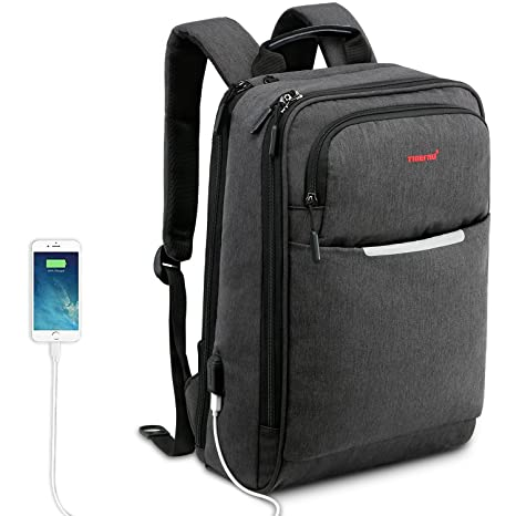 Kuprine Slim Business Lightweight Laptop Backpack for Women Men with USB  Charging Port bff8686be2b6e