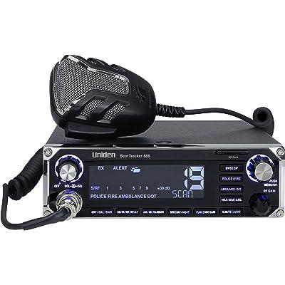 Uniden BEARTRACKER 885 Hybrid Full-Featured CB Radio + Digital TrunkTracking Police/Fire/Ambulance/DOT Scanner w/ BearTracker Warning System Alerts, 40-channel CB, 4-Watts power, 7-color display.: Automotive