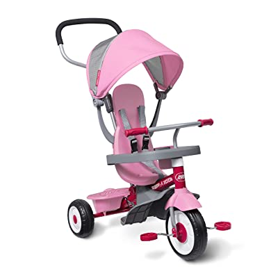 Radio Flyer 4-in-1 Stroll 'N Trike Pink: Toys & Games