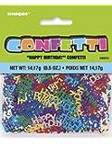 Unique Party 90373 - Confettis d'Anniversaire - Happy Birthday