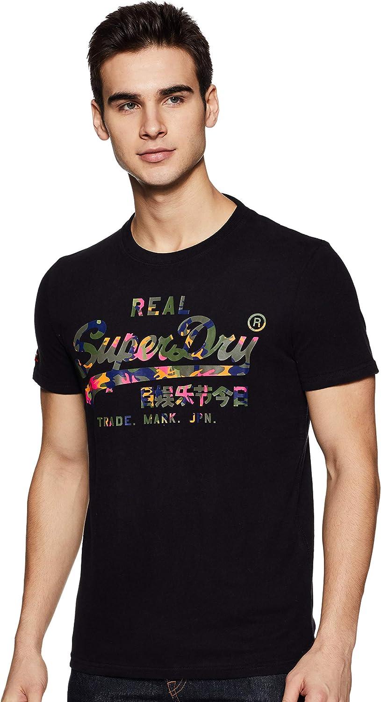 Superdry Vintage Logo Layered Camo tee Camiseta para Hombre