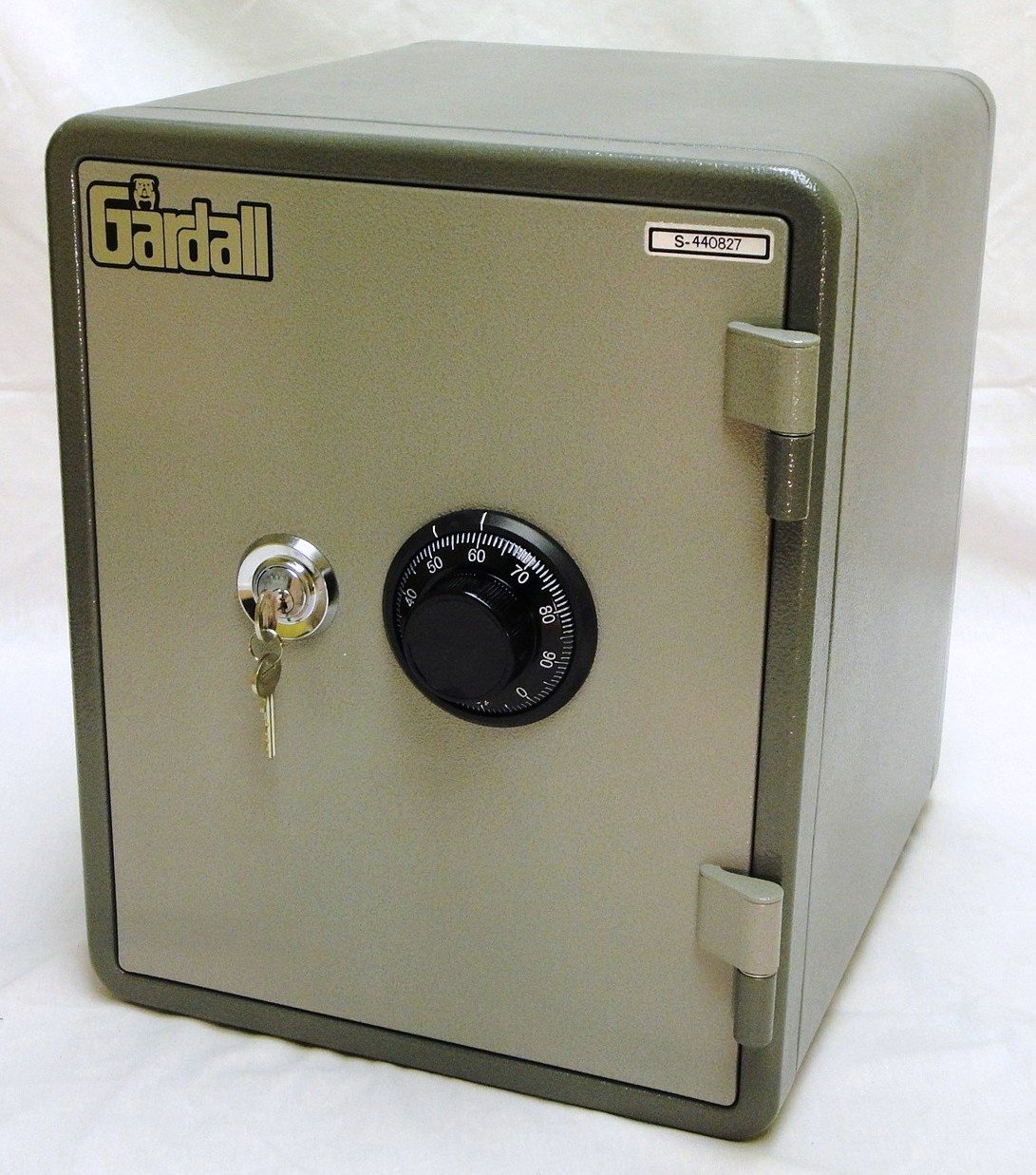 Gardall MS129-G-CK One Hour Vertical Microwave Style Fire Safe w/ Key & Combination Lock Grey