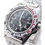 Vostok Amphibian 110647 / 2415b Scuba Diving Military Russian Watches Mechanical Automatic Mens Black