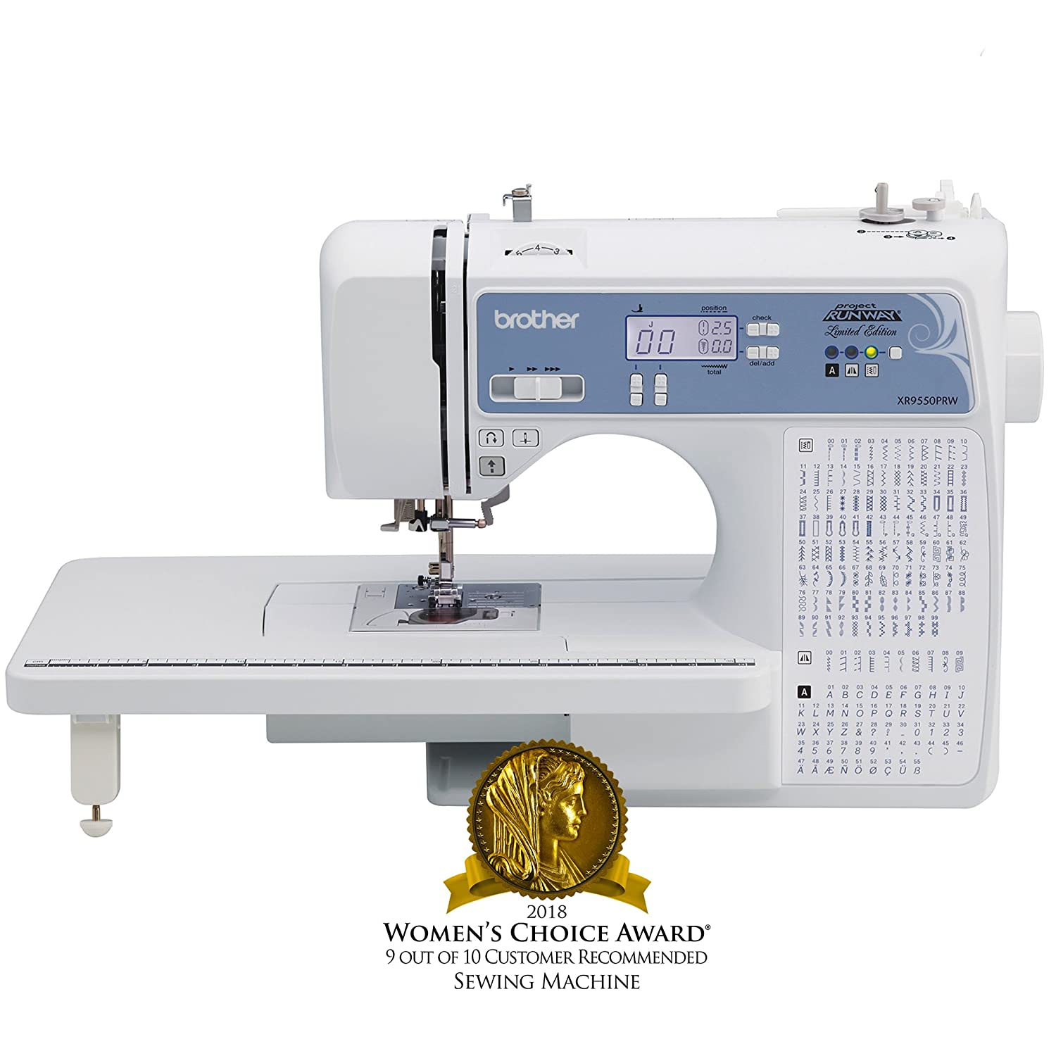 Brother, Computerized Sewing Machine, XR9550PRW, Project Runway Limited Edition, 110 Built-in Utility, LCD Screen, Hard Case Brother International