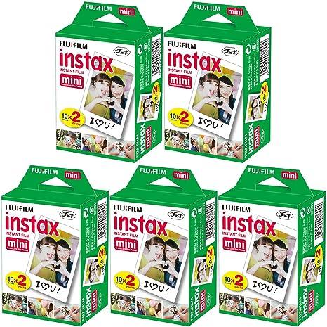 Fujifilm Instax Mini Film Bundle Pack (100 Fotos): Amazon.es: Electrónica