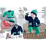 9ec49f5dee3a0 King Cole 4948 Knitting Pattern Baby Childrens Jackets Sweater and Hat in  King Cole Comfort Aran