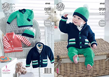 d52818cbb King Cole 4948 Knitting Pattern Baby Childrens Jackets Sweater and ...