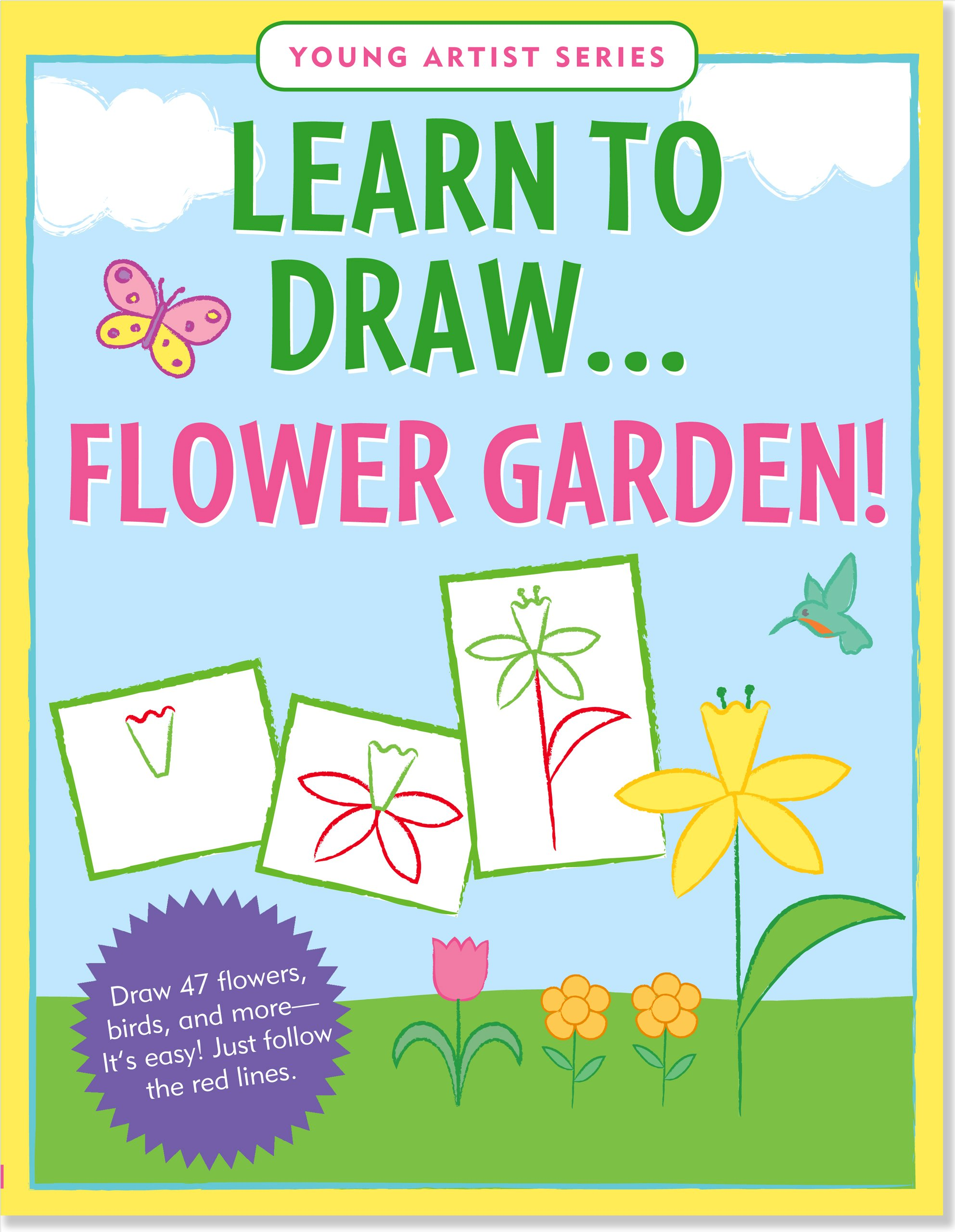 Learn To Draw Flower Garden Easy Step By Step Drawing Guide