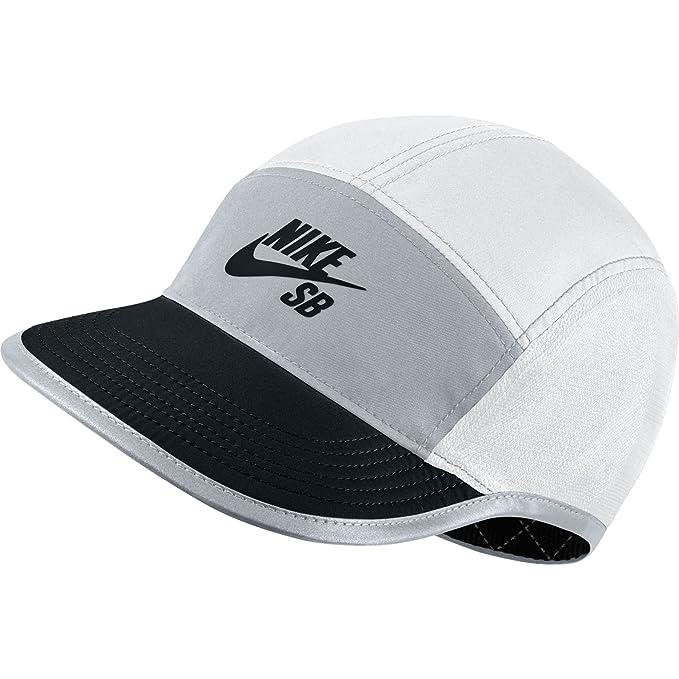 Nike U Nk Cap SB Reversible 5 Panel Gorra de Tenis, Hombre, Blanco (White/Wolf Grey Black), Talla Única: Amazon.es: Deportes y aire libre