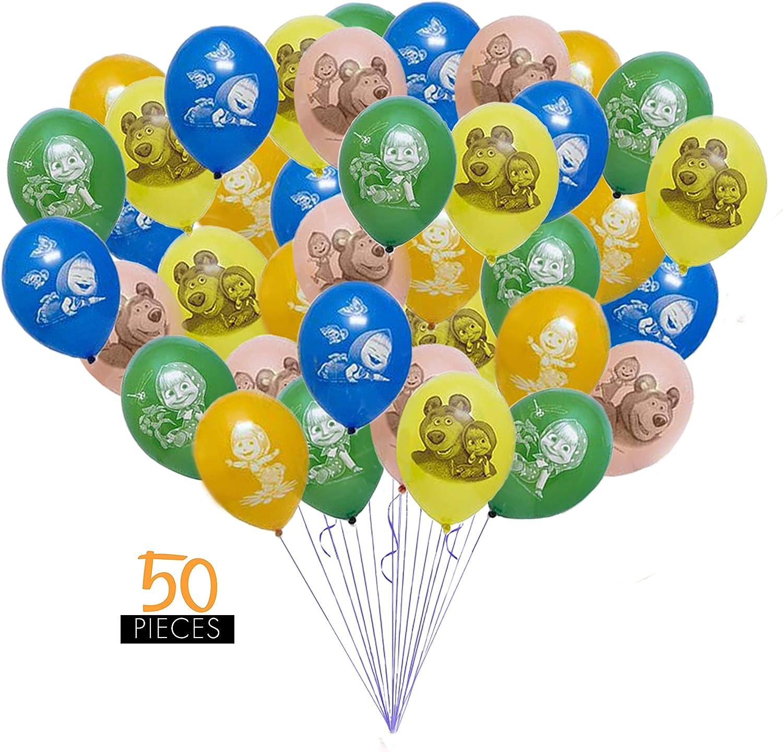 latex Balloon Kids Birthday Decorations Party Balloon. Masha and the bear Foil
