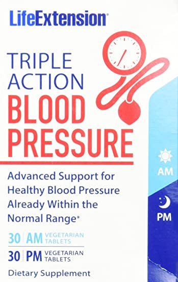 Amazon.com: Life Extension Triple Action Blood Pressure Tables, 60 ...